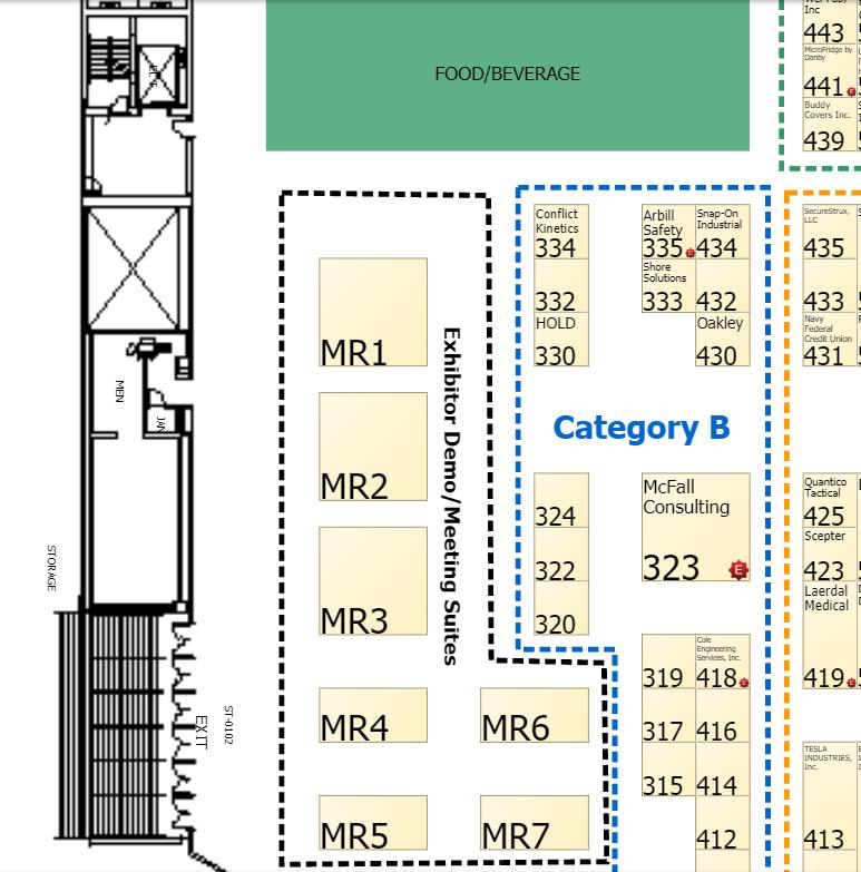 Exhibitor Demo and Business Suites Floorplan