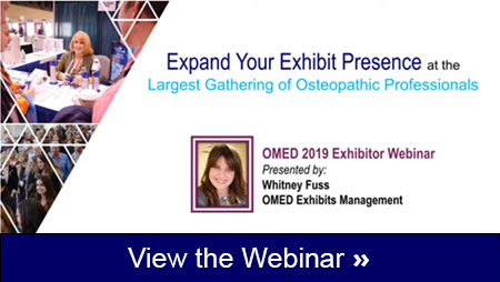 OMED 2019 Exhibitor Webinar Available
